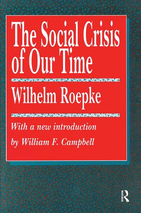 The Social Crisis of Our Time book cover