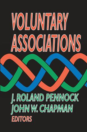 Voluntary Associations: 1st Edition (Paperback) book cover