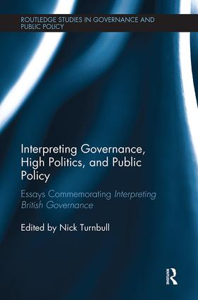 Interpreting Governance, High Politics, and Public Policy