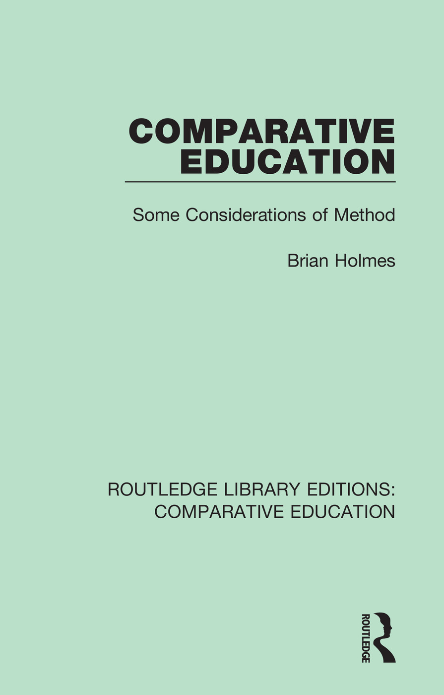 Comparative Education: Some Considerations of Method book cover