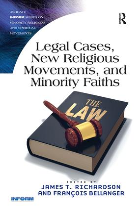 Legal Cases, New Religious Movements, and Minority Faiths book cover