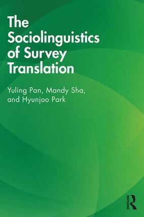 The Sociolinguistics of Survey Translation book cover