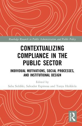 Contextualizing Compliance in the Public Sector: Individual Motivations, Social Processes, and Institutional Design book cover