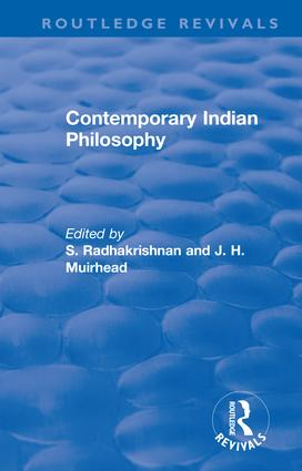 Revival: Contemporary Indian Philosophy (1936) book cover