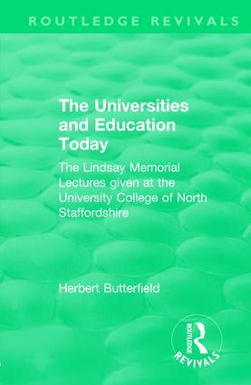The Universities and Education Today