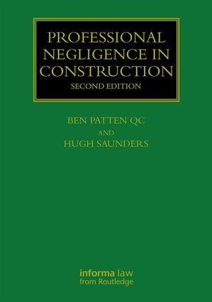 Professional Negligence in Construction book cover