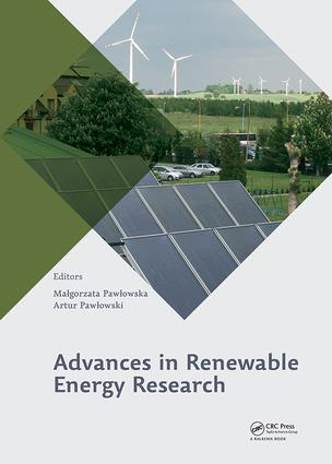 Advances in Renewable Energy Research: 1st Edition (Hardback) book cover