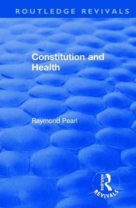 Revival: Constitution and Health (1933) book cover