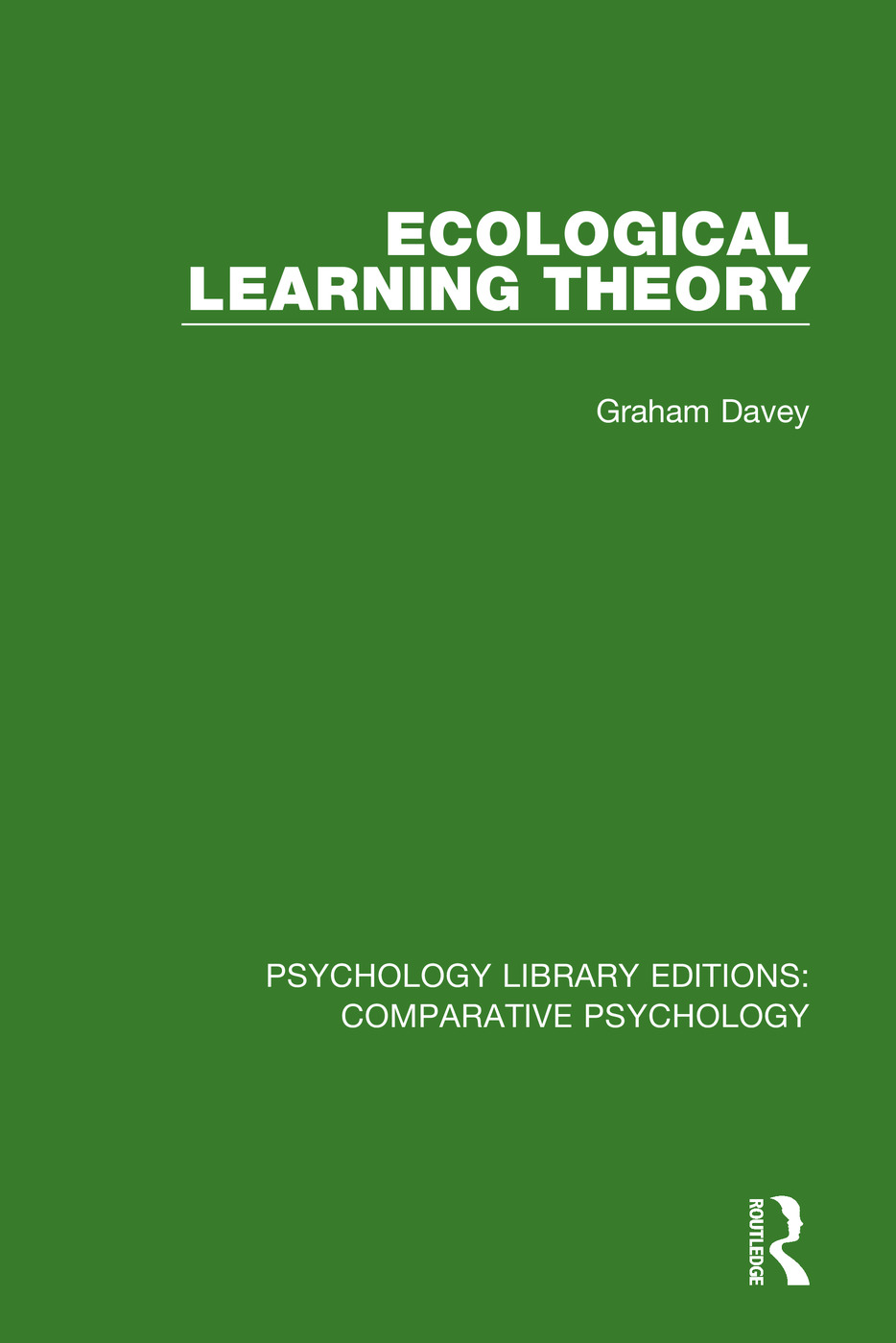 Ecological Learning Theory: 1st Edition (Paperback) book cover