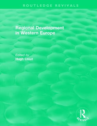 Routledge Revivals: Regional Development in Western Europe (1975): 1st Edition (Hardback) book cover