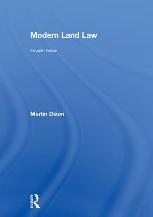 Modern Land Law: 11th Edition (Hardback) book cover