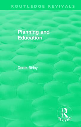Routledge Revivals: Planning and Education (1972) book cover