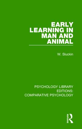 Early Learning in Man and Animal: 1st Edition (Hardback) book cover