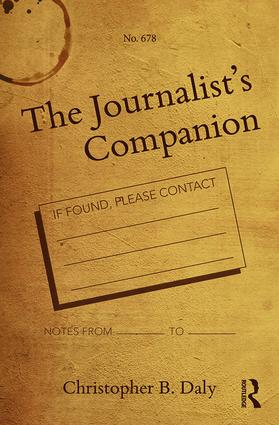The Journalist's Companion: 1st Edition (Paperback) book cover