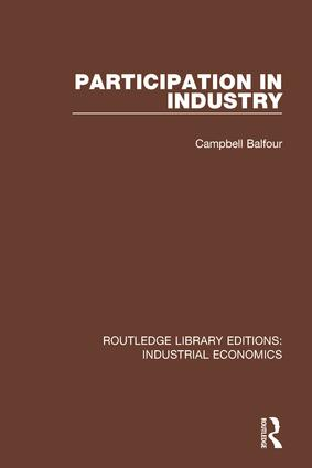 Participation in Industry: 1st Edition (Hardback) book cover