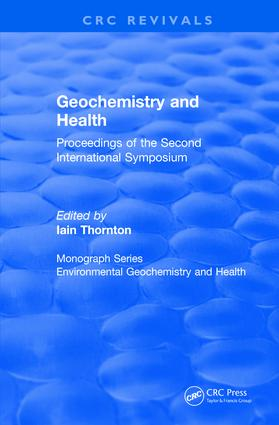 Revival: Geochemistry and Health (1988): Proceedings of the Second International Symposium book cover