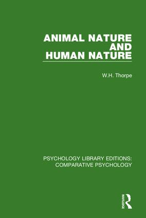 Animal Nature and Human Nature: 1st Edition (Hardback) book cover