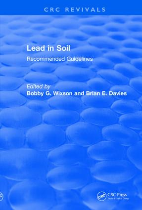 Revival: Lead in Soil (1993): Recommended Guidelines book cover