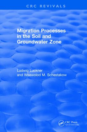 Revival: Migration Processes in the Soil and Groundwater Zone (1991) book cover