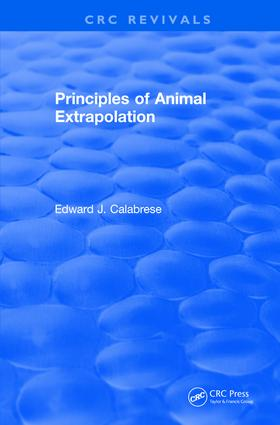 Revival: Principles of Animal Extrapolation (1991): 1st Edition (Paperback) book cover