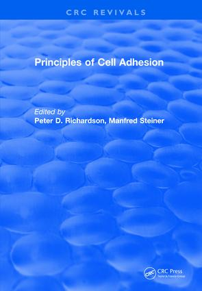 Revival: Principles of Cell Adhesion (1995): 1st Edition (Paperback) book cover