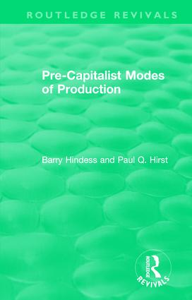 Routledge Revivals: Pre-Capitalist Modes of Production (1975) book cover