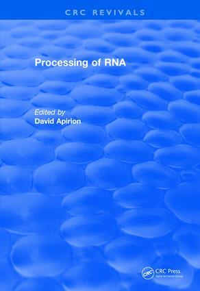 Revival: Processing of RNA (1983): 1st Edition (Paperback) book cover