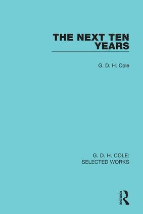 The Next Ten Years: 1st Edition (Paperback) book cover