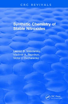 Revival: Synthetic Chemistry of Stable Nitroxides (1993): 1st Edition (Paperback) book cover