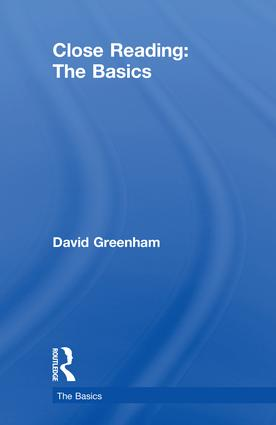 Close Reading: The Basics book cover