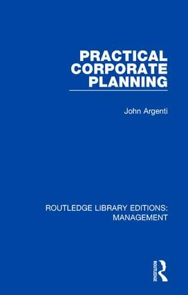 Practical Corporate Planning: 1st Edition (Hardback) book cover