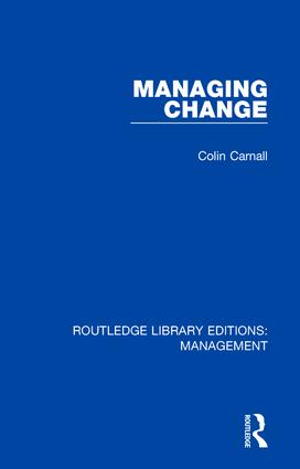 Managing Change: 1st Edition (Hardback) book cover