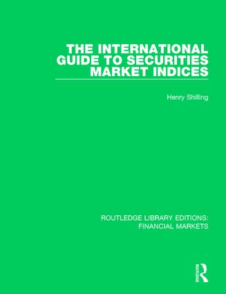 The International Guide to Securities Market Indices book cover