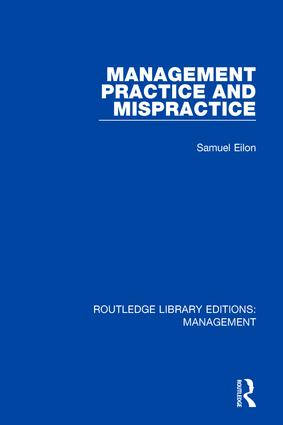Management Practice and Mispractice: 1st Edition (Hardback) book cover