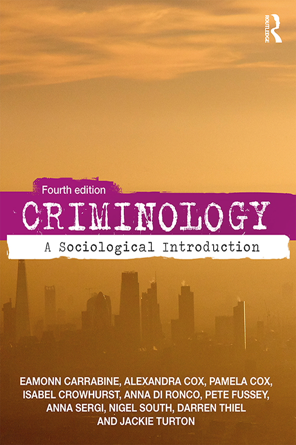 Criminology: A Sociological Introduction book cover