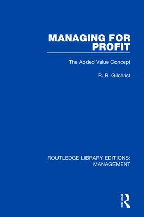 Managing for Profit: The Added Value Concept book cover
