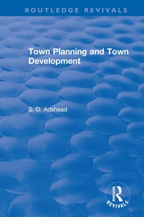 Revival: Town Planning and Town Development (1923)