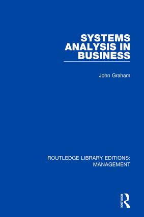 Systems Analysis in Business: 1st Edition (Hardback) book cover