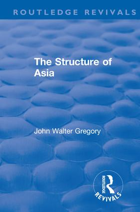 Revival: The Structure of Asia (1976): 1st Edition (e-Book) book cover
