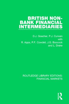 British Non-Bank Financial Intermediaries book cover