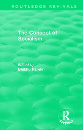 Routledge Revivals: The Concept of Socialism (1975) book cover