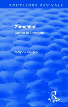 Routledge Revivals: Zamenhof (1960): Creator of Esperanto book cover