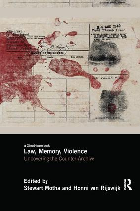 Law, Memory, Violence: Uncovering the Counter-Archive book cover