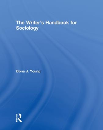 The Writer's Handbook for Sociology: 1st Edition (Hardback) book cover