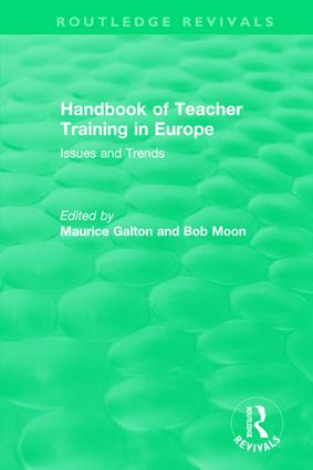 Handbook of Teacher Training in Europe (1994): Issues and Trends book cover
