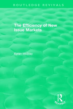 Routledge Revivals: The Efficiency of New Issue Markets (1992) book cover