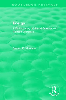 Routledge Revivals: Energy (1975): A Bibliography of Social Science and Related Literature, 1st Edition (Hardback) book cover