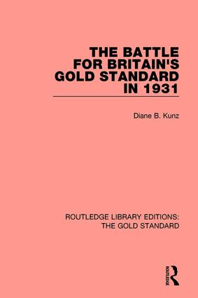 The Battle for Britain's Gold Standard in 1931 book cover
