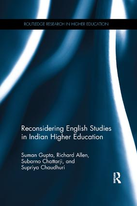 Reconsidering English Studies in Indian Higher Education: 1st Edition (Paperback) book cover