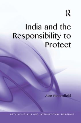 India and the Responsibility to Protect book cover